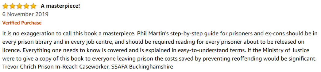 Review of GREAT JOB CRIMINAL RECORD Employment Book by Trevor Chrich SSAFA